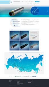 Корпоративный сайт Омского трубного завода Петал
